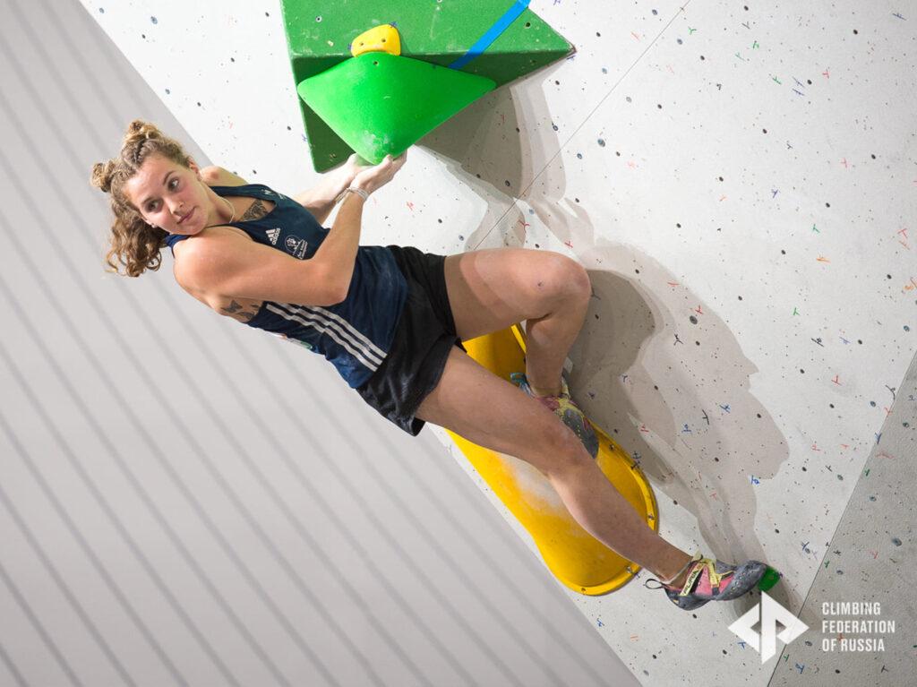 Naile Meignan championne du monde bloc
